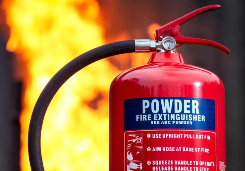 Power fire extinguishers should only be used on specific types of fire.