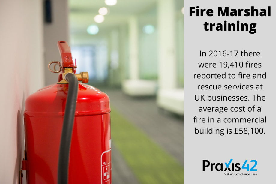 Fire Marshal Training and Fire Warden Training Online Infographic