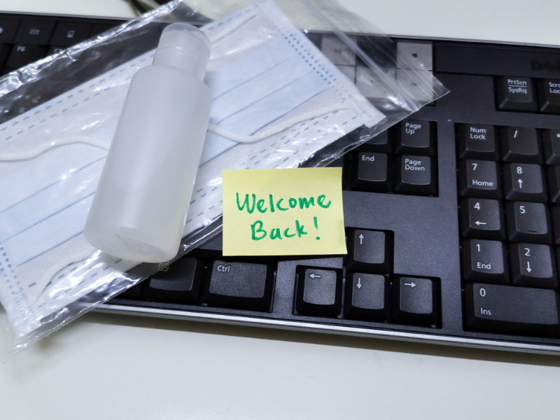 Communicate with employees about returning to work after Covid
